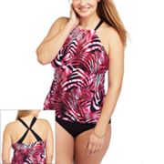 Dana Buchman Zebra Swim Separates - Women's Plus