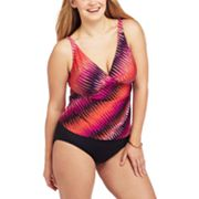 Dana Buchman Zigzag Swim Separates - Women's Plus