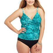 Dana Buchman Cheetah Swim Separates - Women's Plus