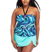 Dana Buchman Swirl Swim Separates - Women's Plus