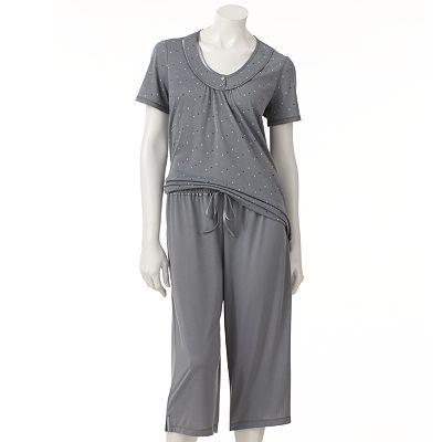 Croft and Barrow Balancing Act Pajama Separates - Women's Plus