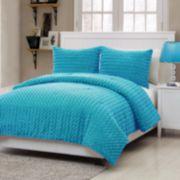 Victoria Classics Rose Fur Comforter Set