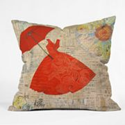 DENY Designs Irena Orlov Lady in Red 1 Decorative Pillow