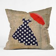 Deny Designs Irena Orlov Red Umbrella Decorative Pillow