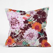 DENY Designs Aimee St. Hill Croc and Flowers Decorative Pillow
