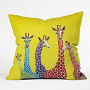 DENY Designs Clara Nilles Jellybean Giraffes Decorative Pillow