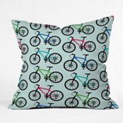 DENY Designs Andi Bird Ride a Bike Decorative Pillow
