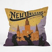 DENY Designs Anderson Design Group New Orleans 1 Decorative Pillow