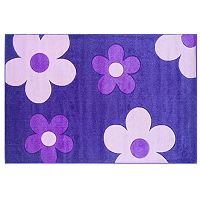 Linon Home Decor Corfu Collection Floral Rug