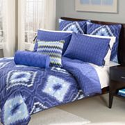 Wild Olive Ikat 7-pc. Reversible Comforter Set