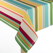 Croft and Barrow Bright Stripe Tablecloth