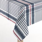 Americana Plaid Seersucker Tablecloth