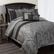 Lush Decor Flower Texture 8-pc. Comforter Set