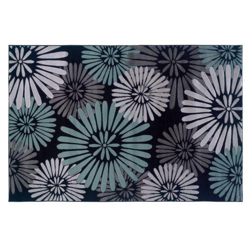 Linon Home Decor Milan Floral Rug