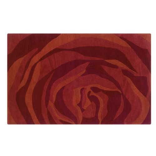 Linon Home Decor Trio with a Twist Abstract Rug