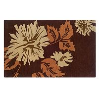 Linon Home Decor Trio with a Twist Floral Area Rug