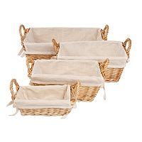 Burt's Bees Baby Rectangular Organic Storage Baskets & Liners