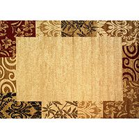 Infinity Home Dulcet Damask Frame Rug