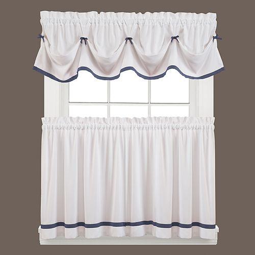 saturday knight ltd kate swag tier kitchen window curtains - Kitchen Window Curtains