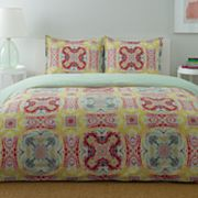 City Scene Medallion Paisley Reversible Duvet Cover Set