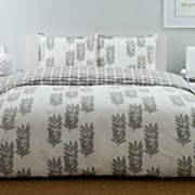City Scene Paloma Leaf Reversible Duvet Cover Set