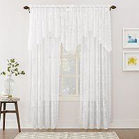 No918 Alison Floral Lace Sheer Window Treatment Collection