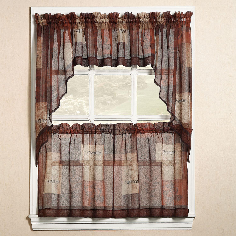 Eden Swag Tier Kitchen Window Curtains