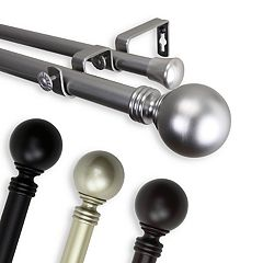 Rod Desyne Globe Adjustable Window Curtain Rod
