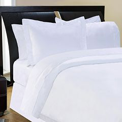 Pointehaven Solid 500-Thread Count Egyptian Cotton Sateen 3-pc. Duvet Cover Set
