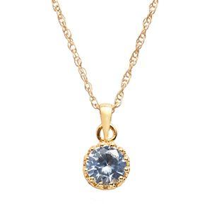 14k Gold Over Silver Gemstone Crown Pendants