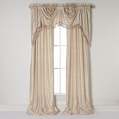 United Curtain Co. Dupioni Silk Austrian Tassle Window Treatments