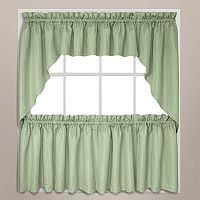 United Curtain Co. Hamden Swag Tier Kitchen Window Curtains