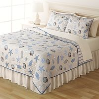 Home Classics® Sarah Seashells Reversible Quilt Collection
