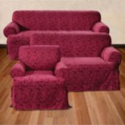 <strong>Sure Fit™ Scroll Damask Slipcover Collection</strong>