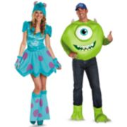 Disney / Pixar Monsters University Mike & Sulley Couple Costumes