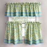 Park B. Smith Boutique Flowers Tier Kitchen Curtains