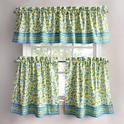 Park B. Smith Boutique Flowers Tier Kitchen Window Curtains
