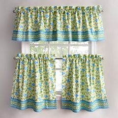 Park B. Smith Boutique Flowers Tier Kitchen Window Curtains