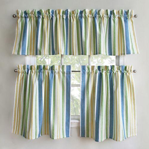 B Smith Cape Cod Tier Kitchen Window Curtains - Cape cod kitchen curtains
