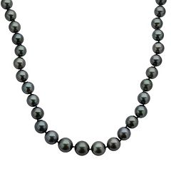 18k White Gold Tahitian Cultured Pearl Necklace