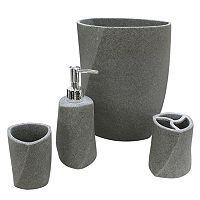 Geo Stone Bathroom Accessories Collection