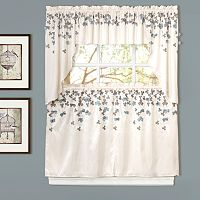 Lush Decor Flower Drops Swag Tier Kitchen Curtains