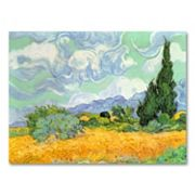 ''Wheatfield with Cypresses, c. 1889'' Canvas Wall Art by Vincent van Gogh
