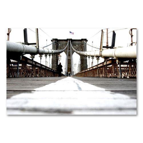 """""""Brooklyn Bridge"""" Canvas Wall Art by Yale Gurney"""