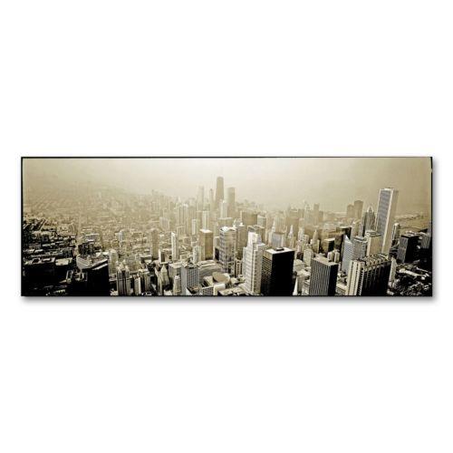 "Chicago Wall Art chicago skyline"" canvas wall artpreston"