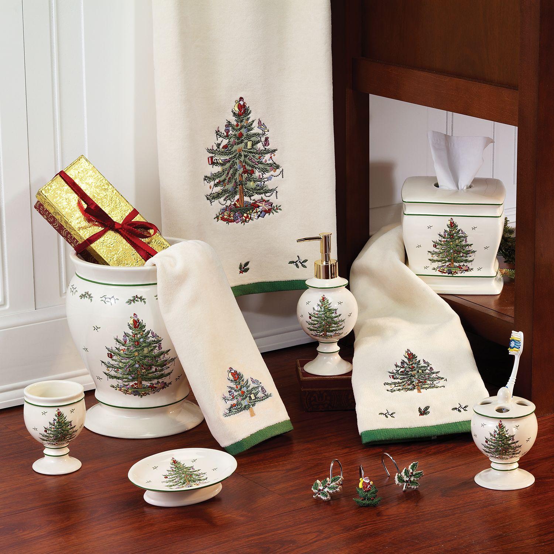 Spode Christmas Tree Bath Accessories
