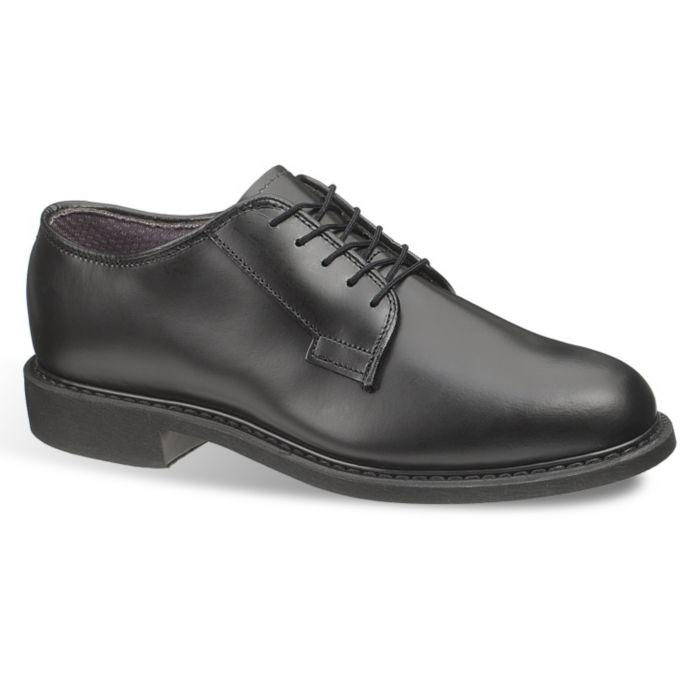 Bates Mens Leather Uniform Oxford 5 2E in Black