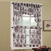 No918 Wine Country Swag Tier Kitchen Window Curtains