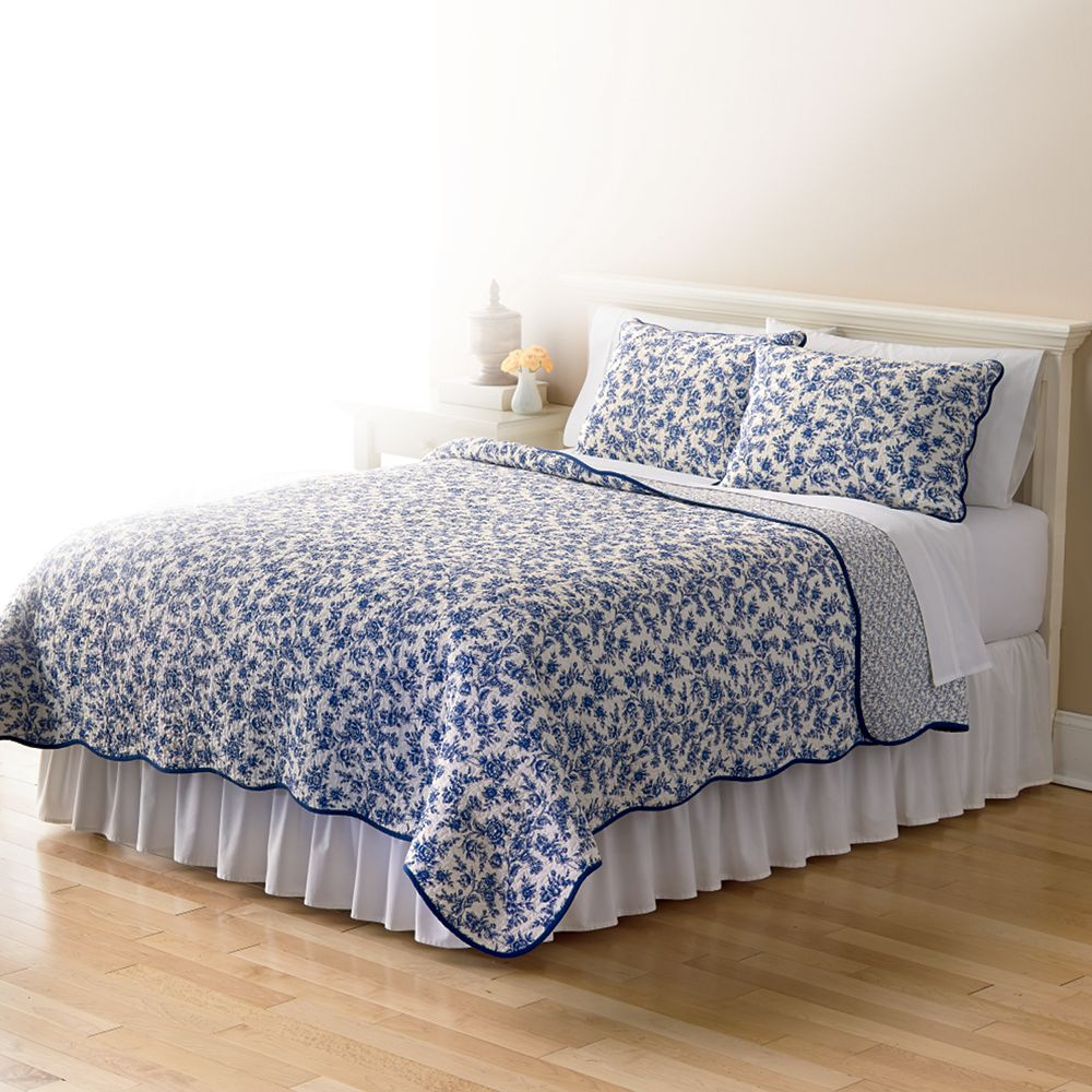 Blue and white toile bedding - Blue And White Toile Bedding 4