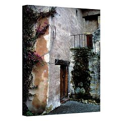 ''Mission Bougainvillea'' Canvas Wall Art by Kathy Yates